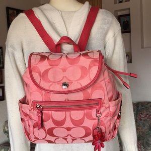 Coach Kyra poppy Signature Backpack